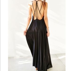 Ecote Urban Outfitters black maxi dress